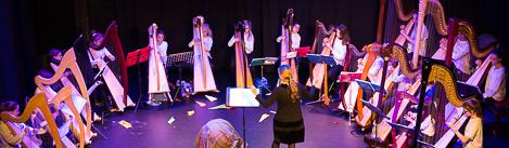 Musique classique orchestre harpes